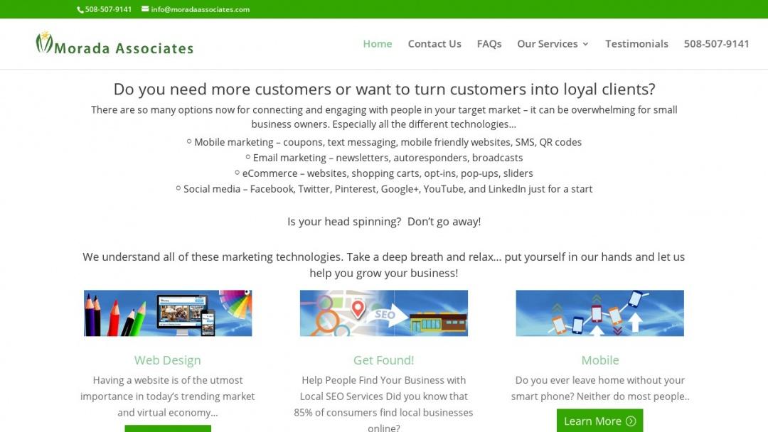 Screenshot of Morada Associates's Website