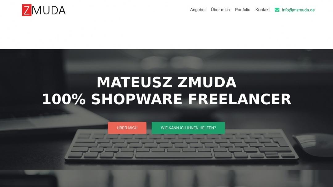 Screenshot of mzmuda's Website