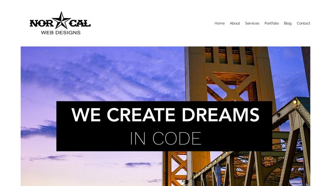 Screenshot of Norcal Web Designs's Website