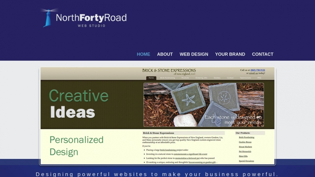 Screenshot of North Forty Road's Website