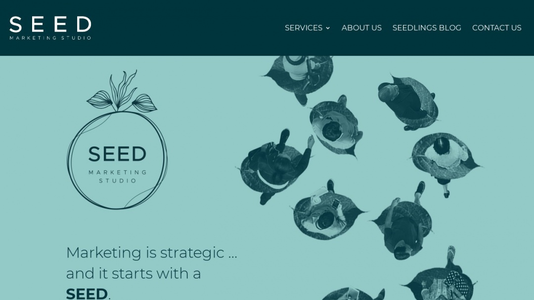 Screenshot of Orlando Content Marketing's Website