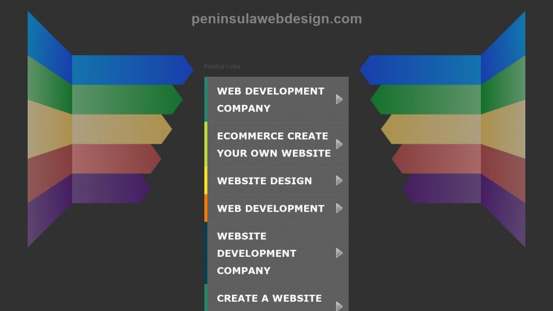 Screenshot of Peninsula Web Design's Website