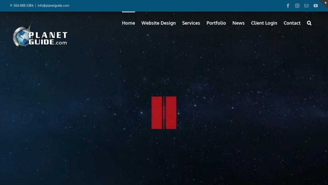 Screenshot of Planetguide's Website