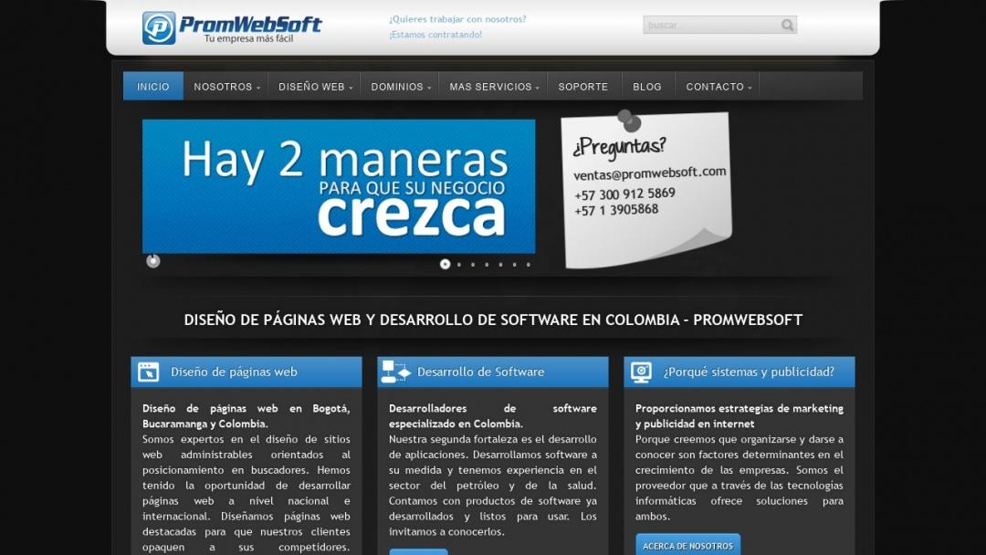 Screenshot of Promo Web Soft's Website