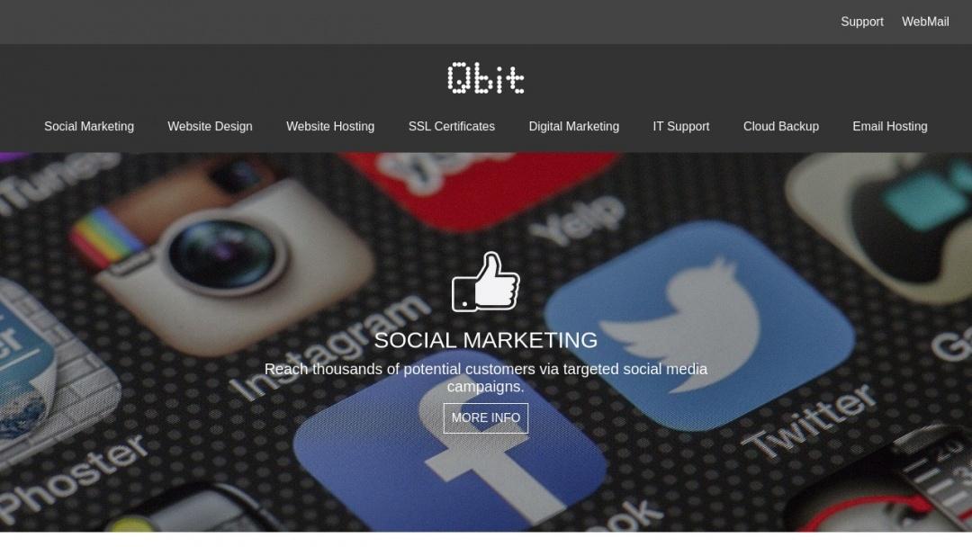 Screenshot of Qbit Digital's Website
