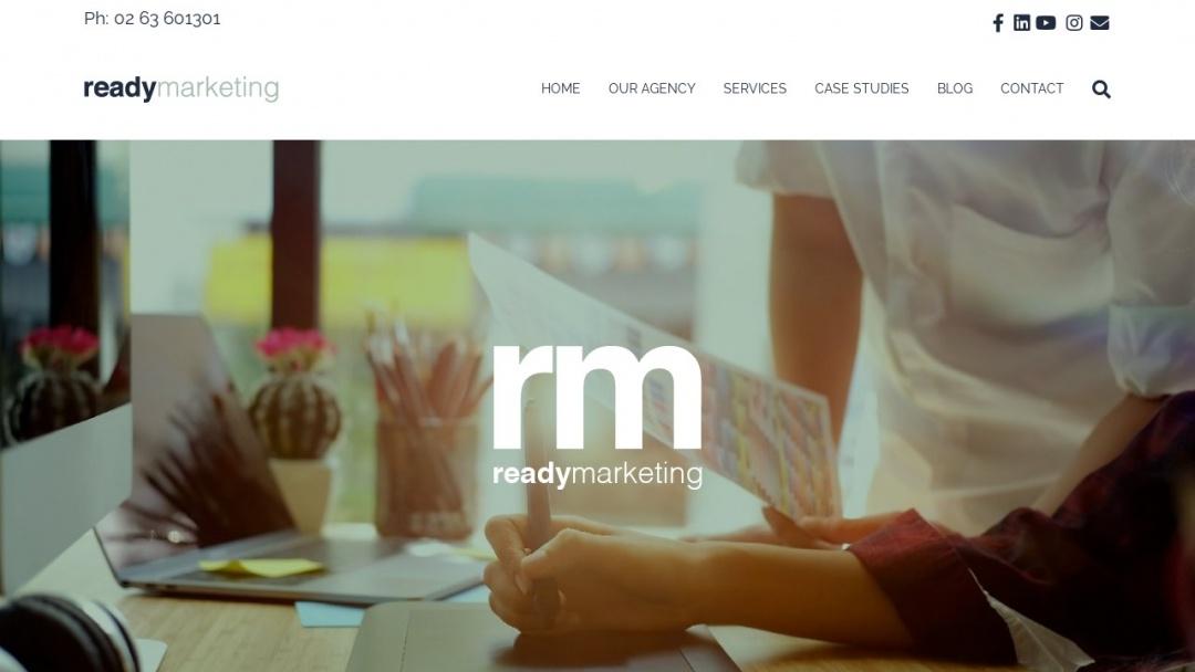 Screenshot of Ready Marketing's Website