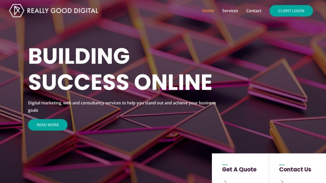 Screenshot of Really Good Marketing's Website