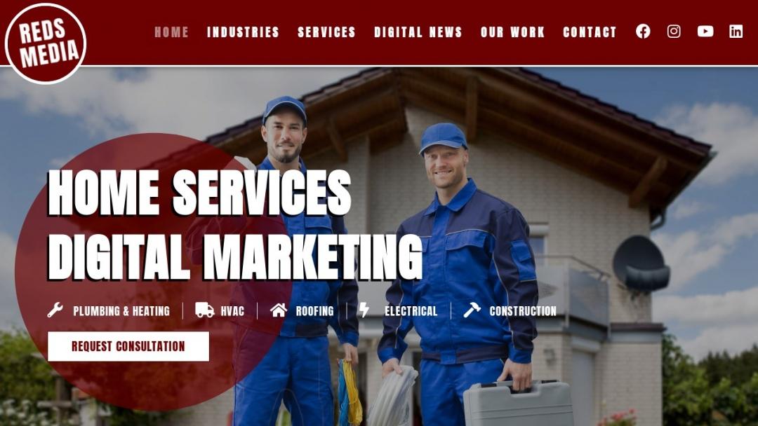 Screenshot of Reds Media's Website