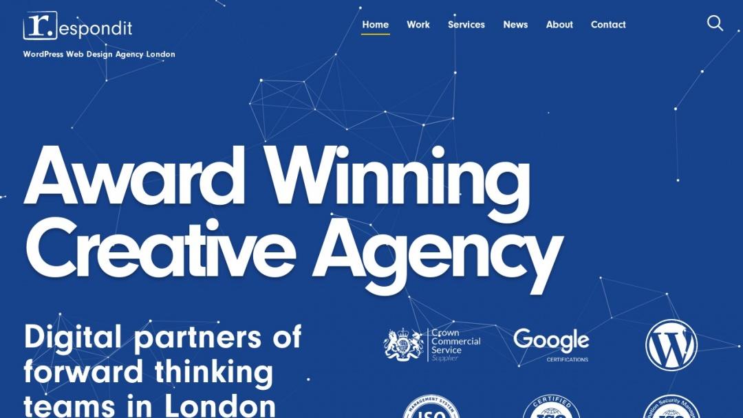 Screenshot of Respondit Web Design's Website