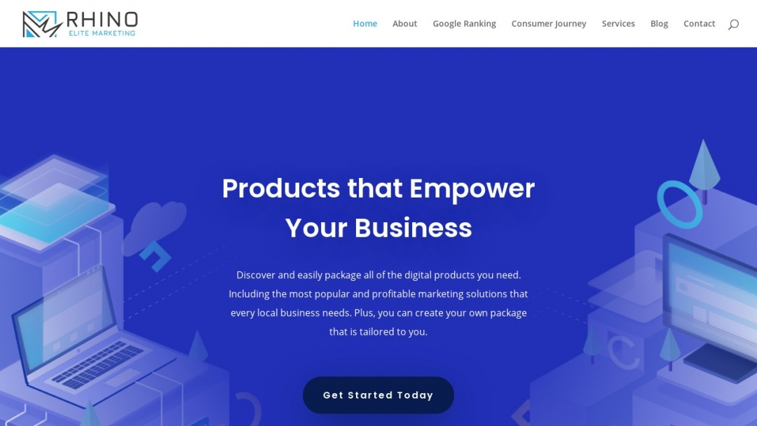 Screenshot of Rhino Elite Marketing's Website