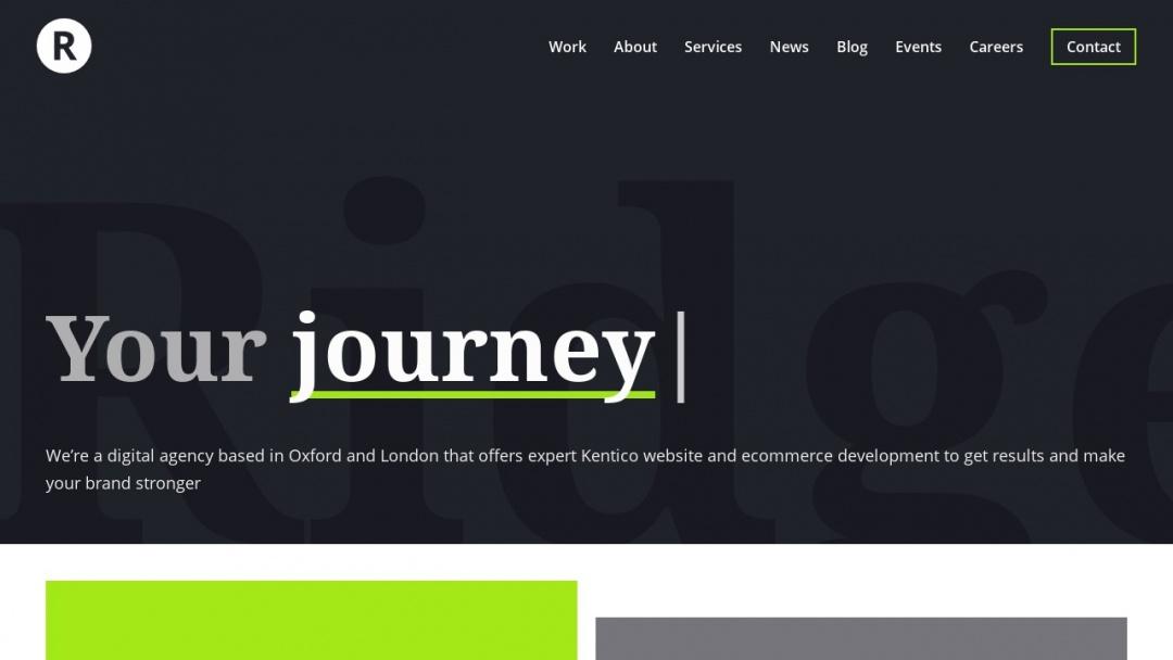 Screenshot of Ridgeway's Website
