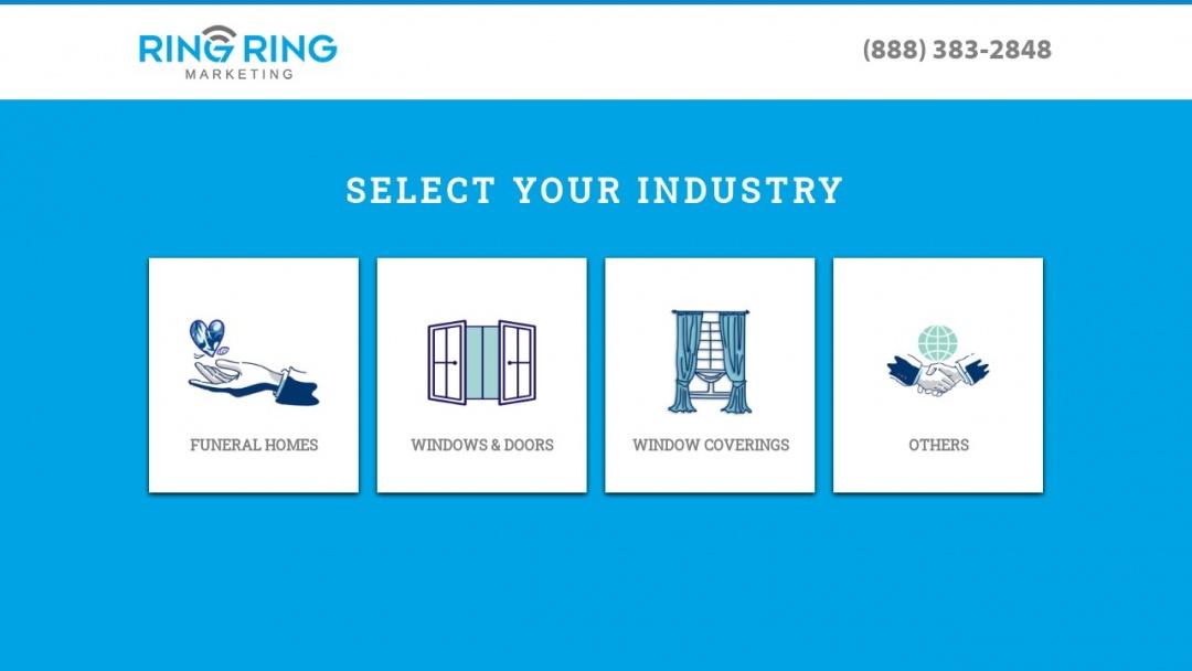 Screenshot of Ring Ring Marketing's Website