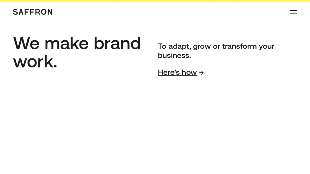 Screenshot of Saffron Brand Consultants's Website