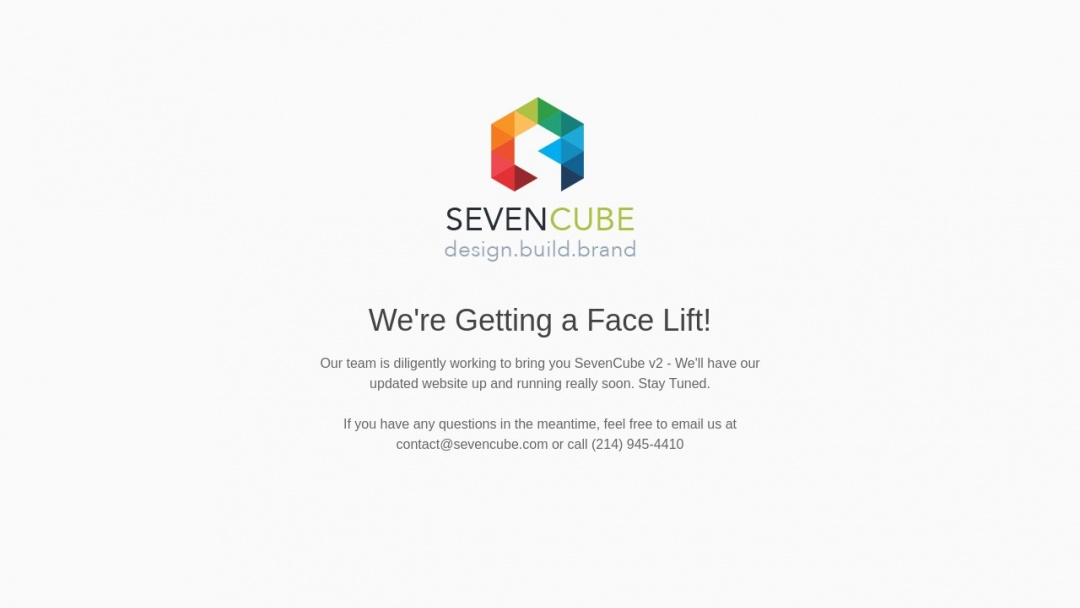 Screenshot of SevenCube's Website