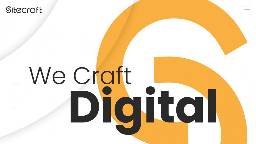 Screenshot of SiteCraft Inc.'s Website