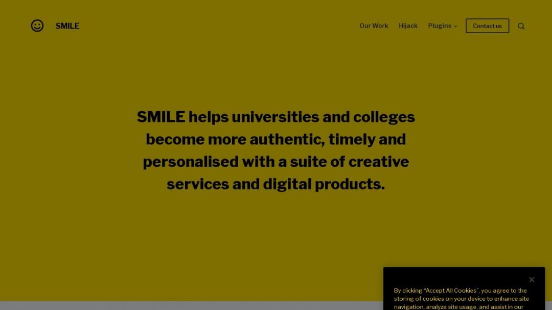 Screenshot of SMILE's Website