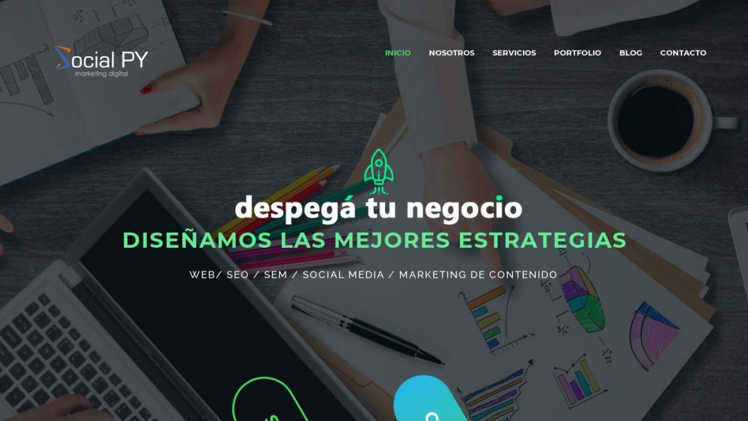 Screenshot of Social PY - Marketing Digital's Website