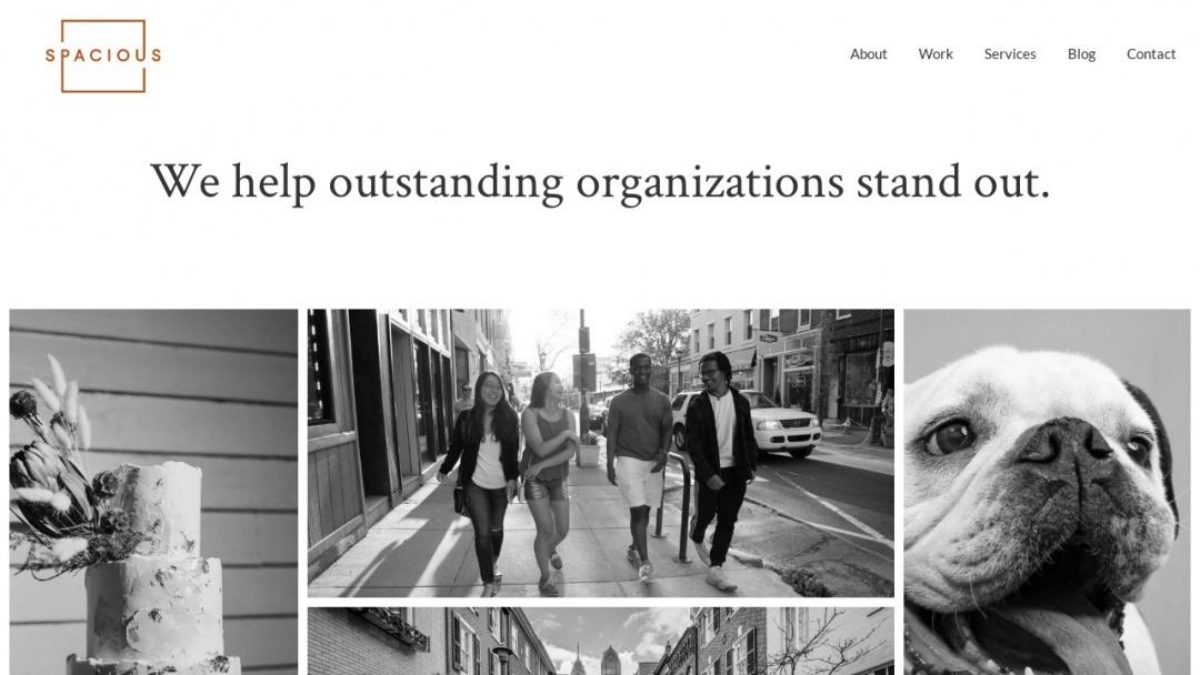 Screenshot of Spacious: A Creative Web Company's Website