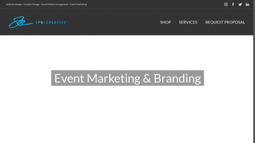 Screenshot of SPB+Creative's Website