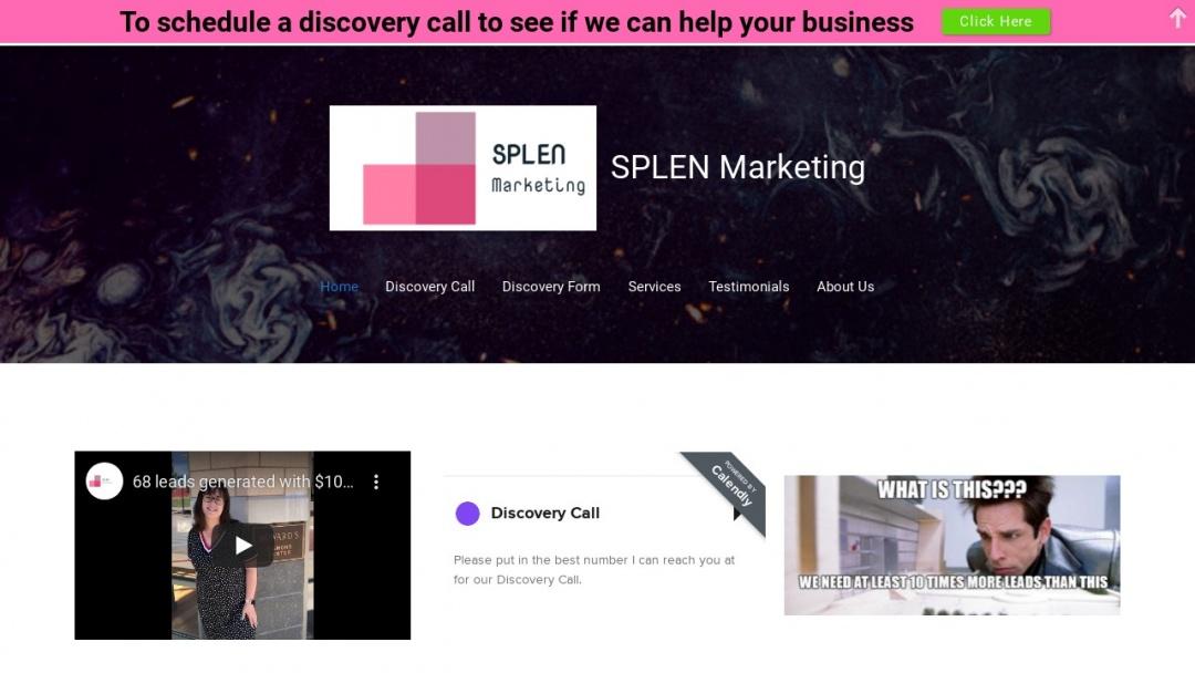 Screenshot of SPLEN Marketing Consulting's Website