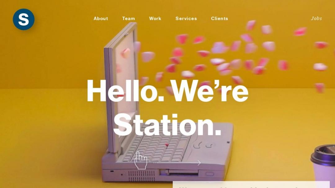 Screenshot of Station's Website