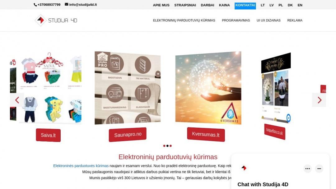 Screenshot of Studija 4D's Website