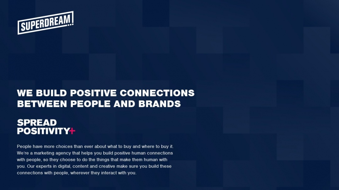 Screenshot of Superdream's Website