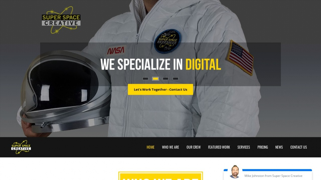 Screenshot of Superspace Creative's Website