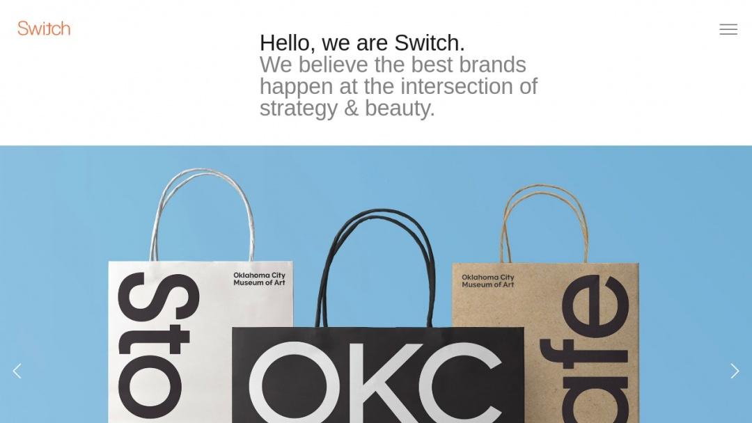 Screenshot of Switch's Website