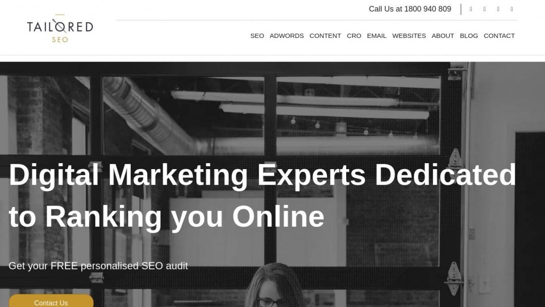 Screenshot of Tailored SEO's Website