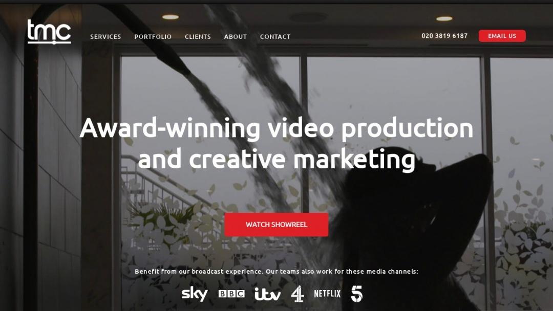 Screenshot of The Marketing Cafe's Website