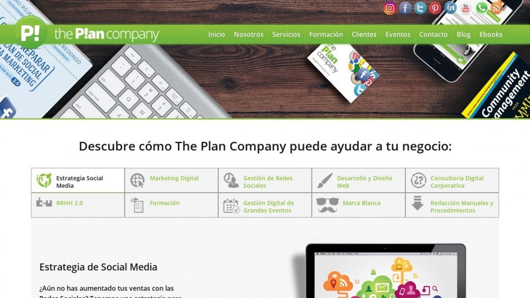 Screenshot of The Plan Company's Website