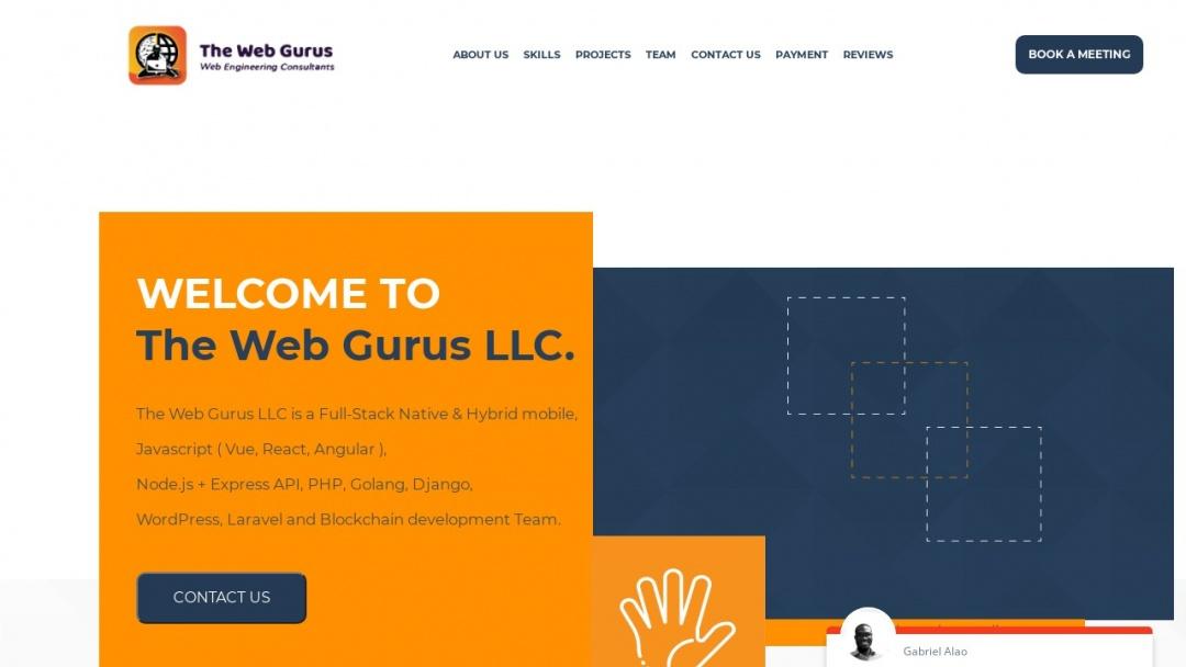 Screenshot of The Web Gurus's Website