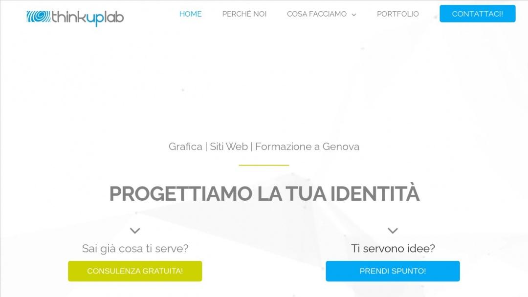 Screenshot of ThinkUpLab's Website