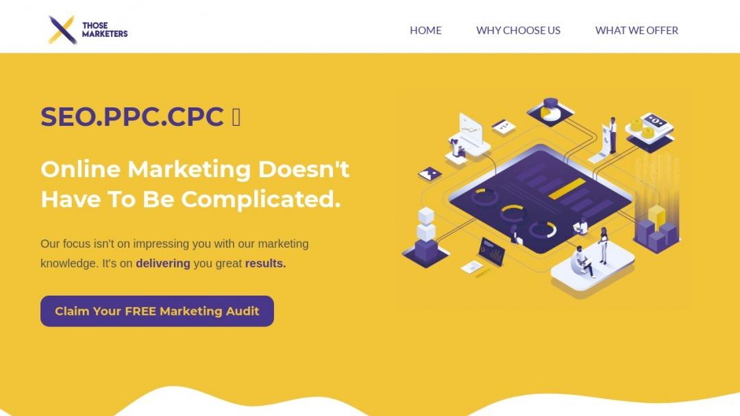 Screenshot of Those Marketers's Website