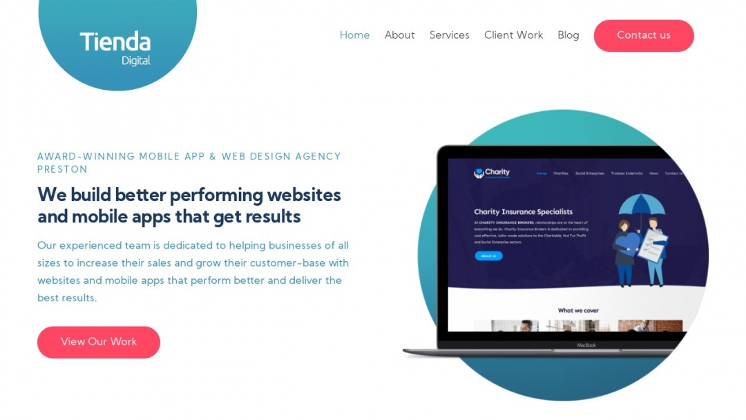 Screenshot of Tienda Digital's Website