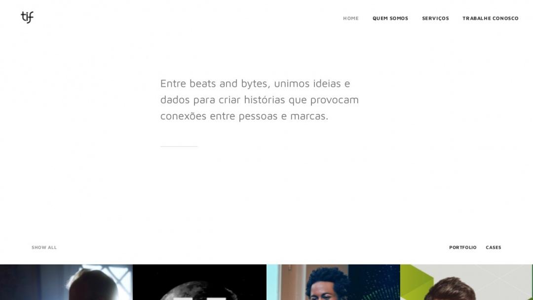 Screenshot of Tif Comunicação's Website
