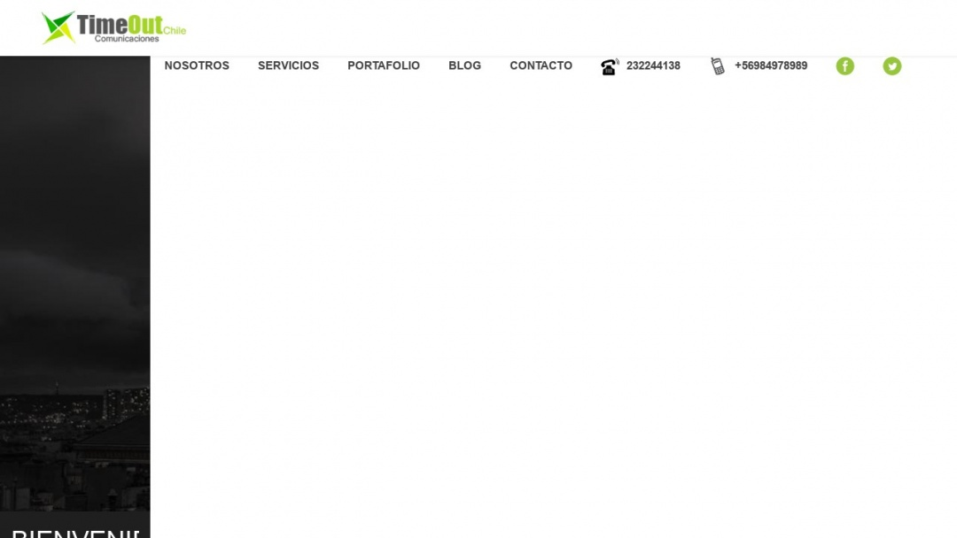 Screenshot of Time Out Chile Comunicaciones's Website