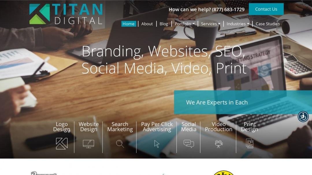 Screenshot of Titan Web Marketing Solutions's Website