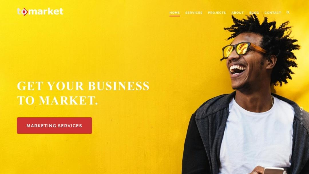 Screenshot of To Market's Website
