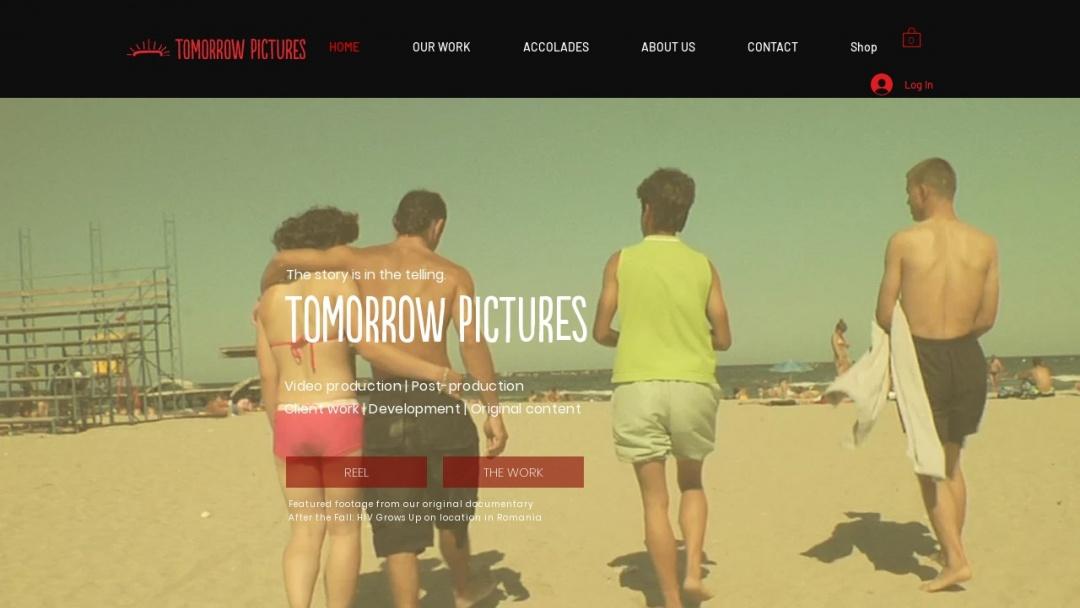 Screenshot of Tomorrow Pictures's Website