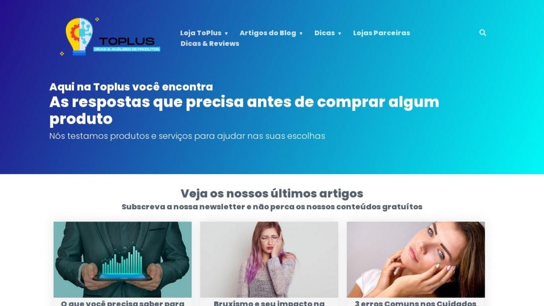 Screenshot of toPlus's Website
