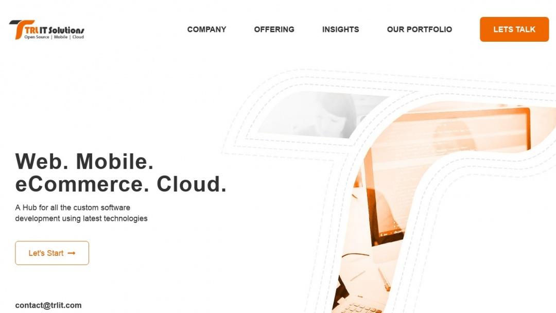 Screenshot of TRL IT Solutions's Website