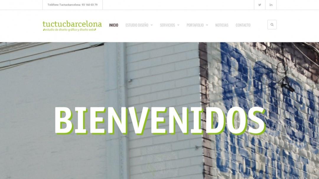 Screenshot of Tuctucbarcelona's Website