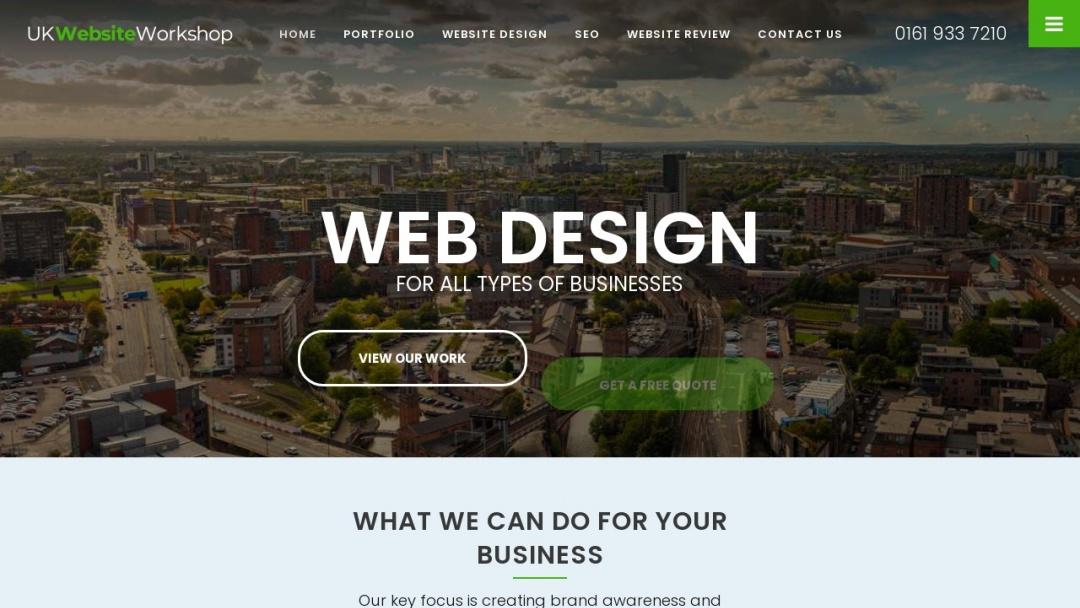 Screenshot of UK Website Workshop Ltd's Website