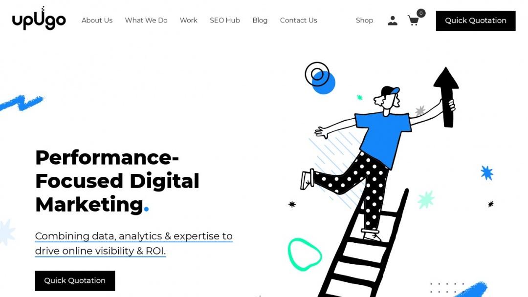 Screenshot of upUgo's Website