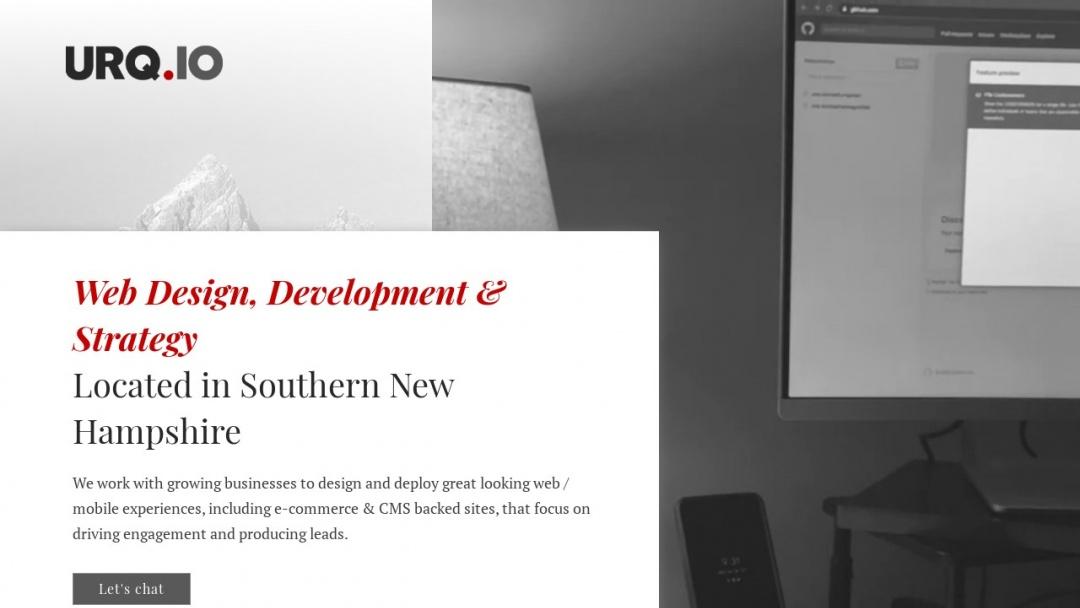 Screenshot of Urq.io's Website