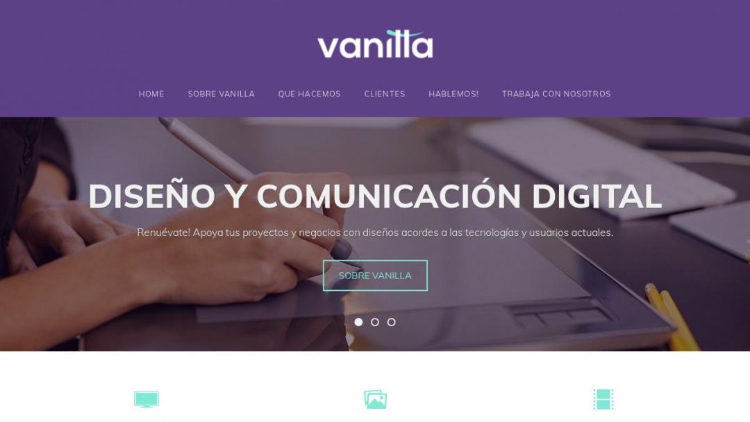 Screenshot of Vanilla Diseño's Website