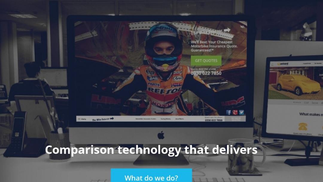 Screenshot of Vast Visibility's Website