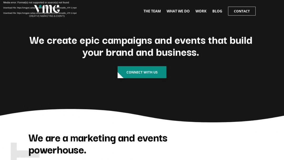 Screenshot of Versatile Management Group's Website